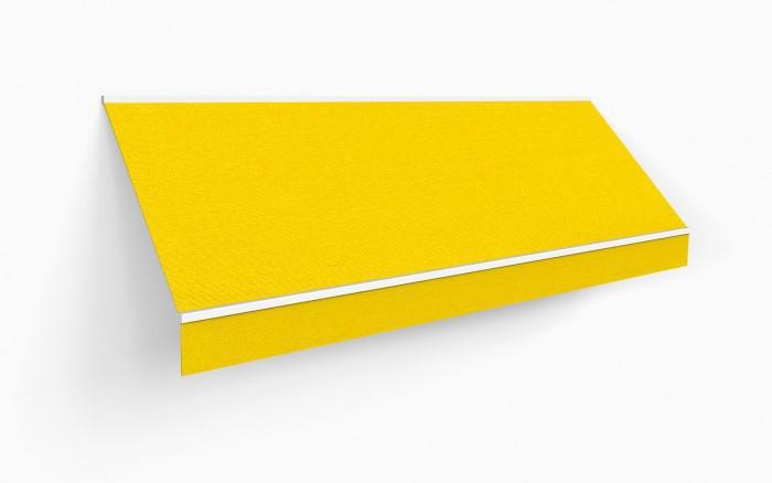 450 x 350 kassettenmarkise markise gelb uni mit funkmotor. Black Bedroom Furniture Sets. Home Design Ideas