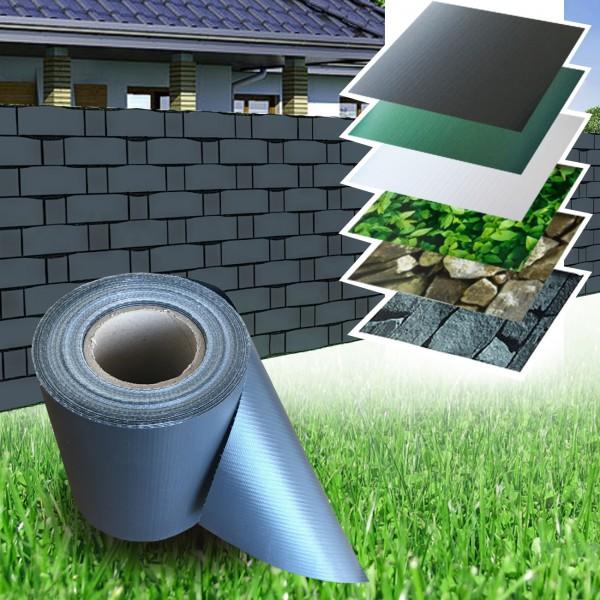 pvc zaun sichtschutz sichtschutzfolie anthrazit heim garten sichtschutz zaun. Black Bedroom Furniture Sets. Home Design Ideas