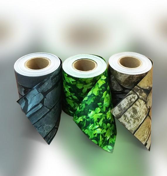 35m schiefer pvc sichtschutz streifen zaunfolie doppelstabmatten zaun folie ebay. Black Bedroom Furniture Sets. Home Design Ideas