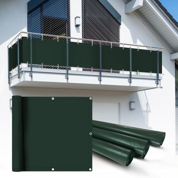 pvc balkon sichtschutz sichtschutzfolie gr n 6x0 75m heim garten sichtschutz balkon. Black Bedroom Furniture Sets. Home Design Ideas