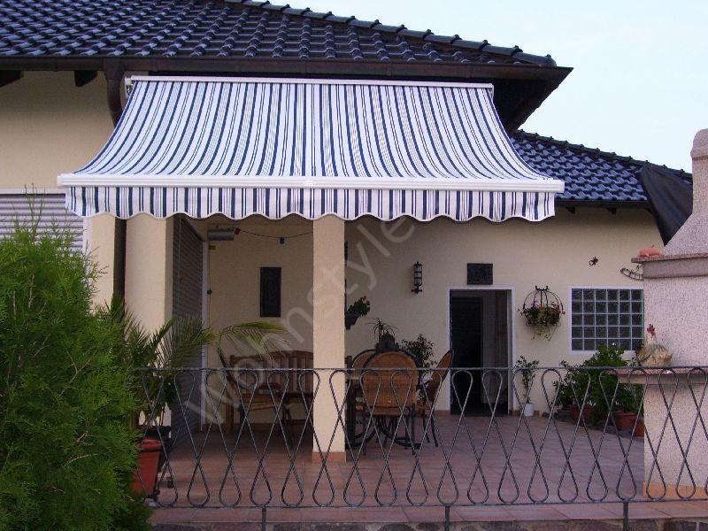 400 x 300 hulsenmarkise markise grau mit funkmotor heim With markise balkon mit rasch tapeten home style